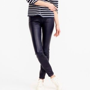 J Crew Vegan Leather Leggings